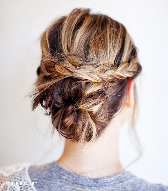 中长发女孩专属的夏季编发及盘发造型图片