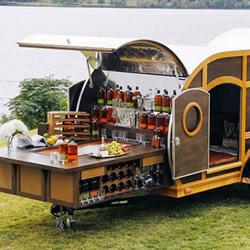 露营车概念移动酒吧设计 随时户外开PA