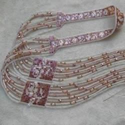 民族风装饰肩带串珠手工DIY制作图解教程