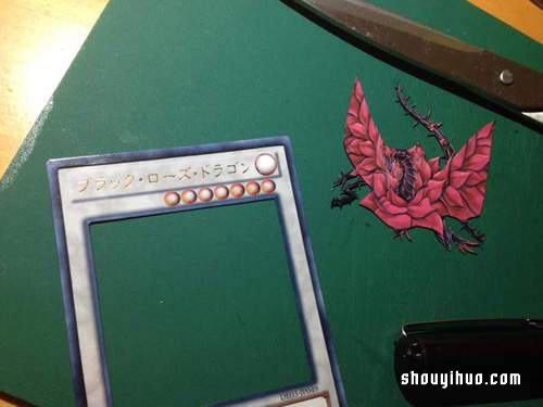 Shadow box 概念立體遊戲王卡紙雕藝術