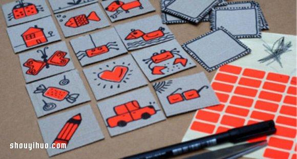 小朋友们放假都玩什么呢?可不要整天看动画片或是玩电脑/手机游戏哦,这些都非常影响我们的视力,等到被迫戴眼镜就会知道有多麻烦、多讨厌了!下面步桐要教大家利用硬纸板来制作好玩的卡片,别错过哦,赶紧来试试吧~~~ 需要准备的硬纸板可以从包装盒上获得,剪成同样大小的方形。然后用彩色水笔在卡片上画出各种图案,动物、汽车、房子、眼镜等等,任意发挥吧~超简单的废物利用游戏卡片小制作,不但好玩,还可以练习画画呢O(∩_∩)O~~