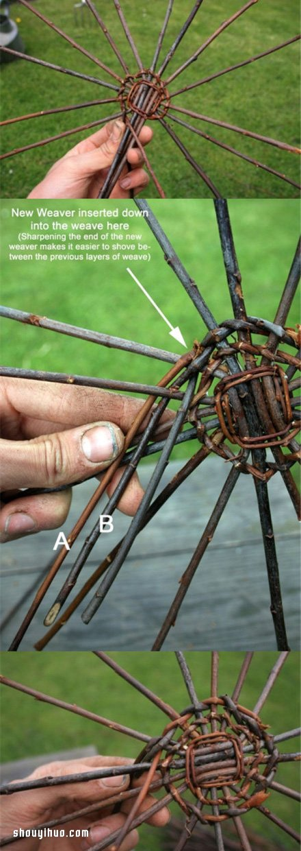 心的折叠方法图解_藤编篮子的方法 纯手工编织篮子的步骤图解_手艺活网