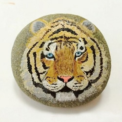 石头画老虎的画法详细步骤图解教程