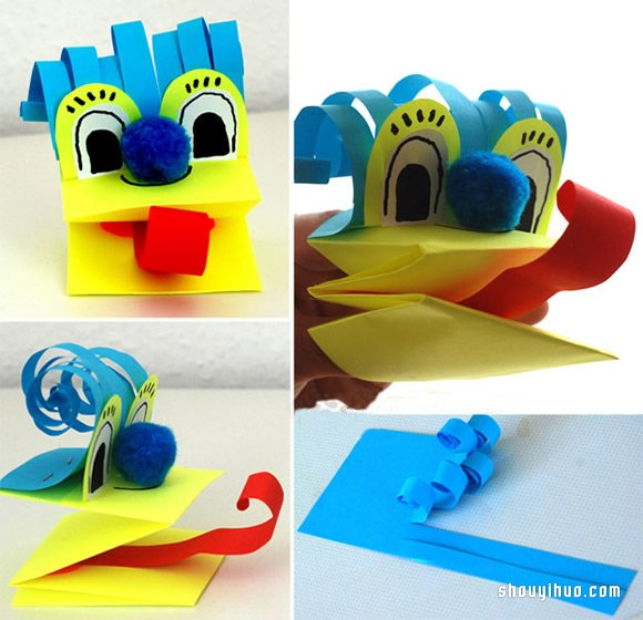 好玩動物手偶的製作方法 指偶手工疊法圖解