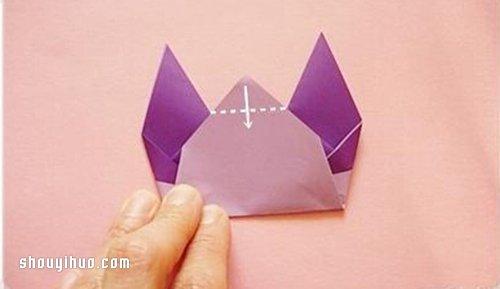 摺紙貓咪手偶的方法 貓咪手偶製作方法圖解