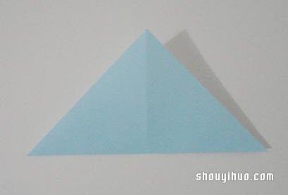 摺紙貓頭鷹的方法圖解 手工貓頭鷹折法教學