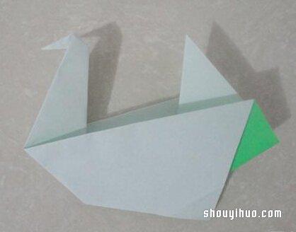 摺紙水鳥的方法圖解 手工水鳥的折法教學