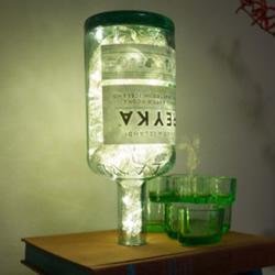 玻璃酒瓶和旧书废物利用DIY梦幻灯饰的方法