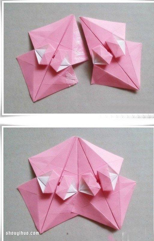 摺紙陽傘的折法圖解 手工摺紙陽傘的方法
