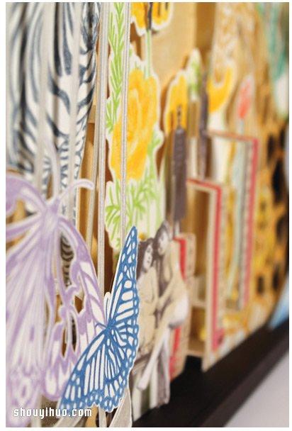 趣味盎然的立體紙雕裝飾畫作品欣賞