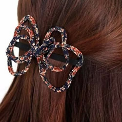 布艺蝴蝶结发卡的制作方法图解