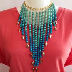 流苏造型串珠项链DIY制作方法图解教程