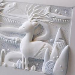 超轻粘土相框画摆饰的制作方法步骤图解