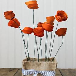 简单卡纸玫瑰花的制作方法图解