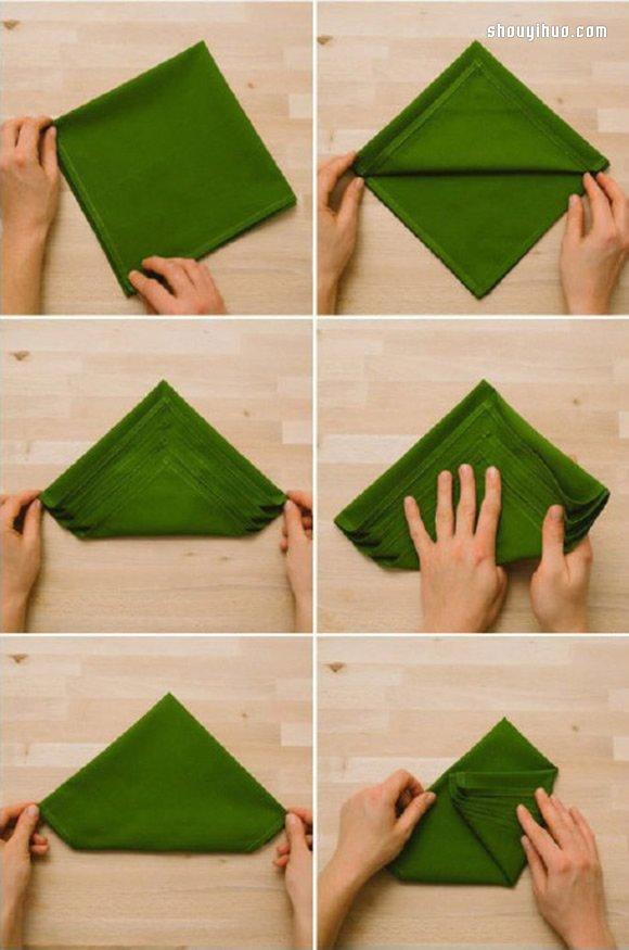 布的叠法图解教程