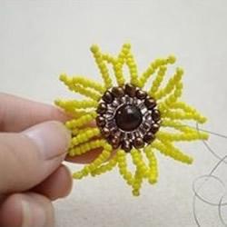 太阳花戒指的制作方法 利用串珠工艺DI