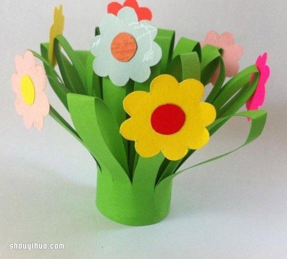 儿童小手工:剪纸制作植物花草的方法步骤_手艺活网
