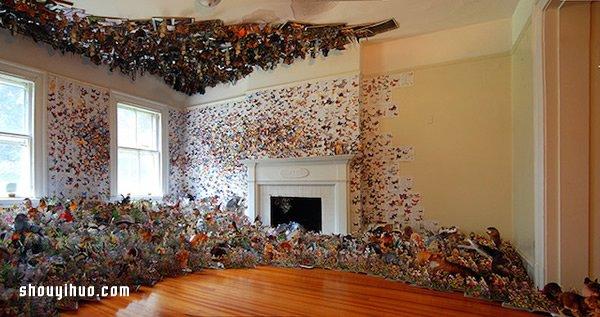 剪紙拼貼藝術 將家變成了斑斕的童話森林