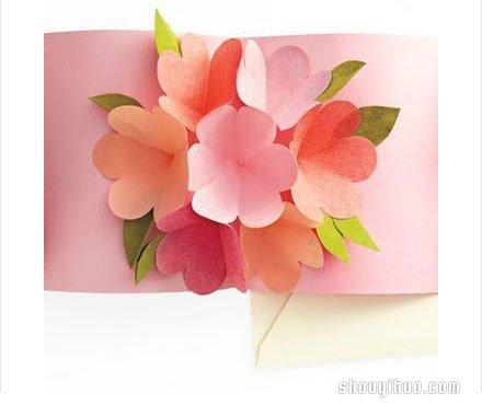 卡的制作方法 手工剪纸制作花瓣贺卡
