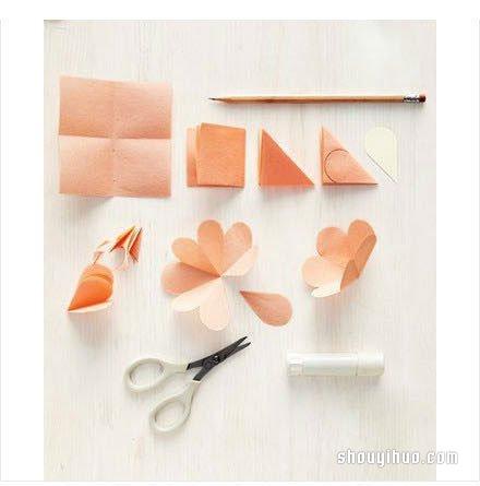 花瓣賀卡的製作方法 手工剪紙製作花瓣賀卡