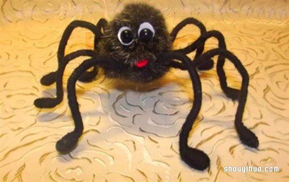 可爱小蜘蛛玩具的制作方法 带详细图解