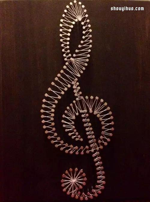 简单手工花制作方法_String Art艺术 利用钉子和线DIY装饰画_手艺活网