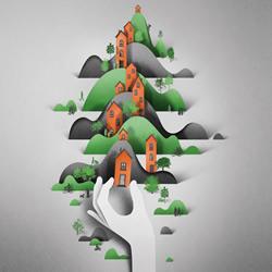 空间感十足的3D纸雕插画作品欣赏