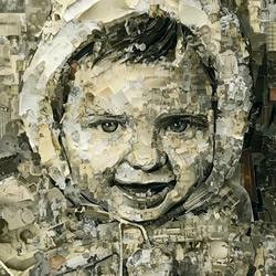 震撼的照片拼贴画作品 笔触近似精美油画