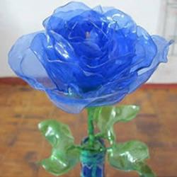 饮料瓶塑料瓶制作漂亮的塑料玫瑰花图解