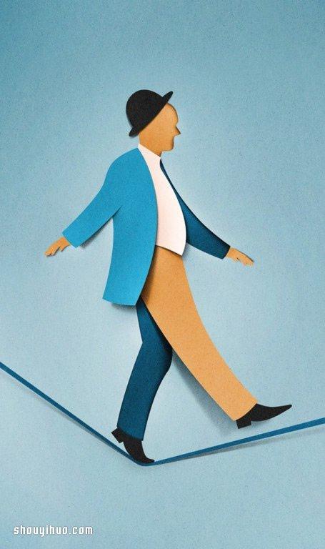 空間感十足的3D紙雕插畫作品欣賞