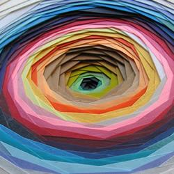 彩色卡纸层层堆叠 DIY梦幻般的纸雕艺术