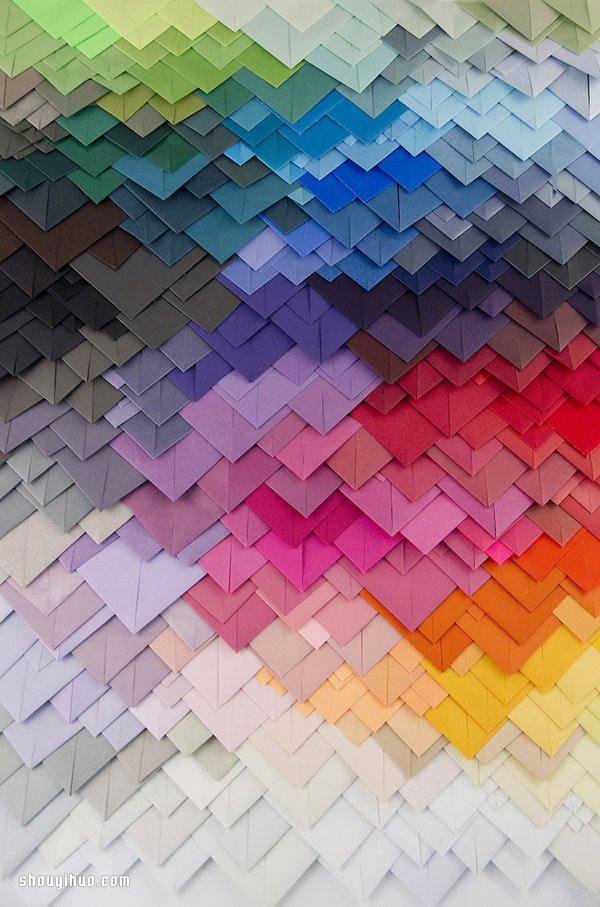 彩色卡紙層層堆疊 DIY夢幻般的紙雕藝術