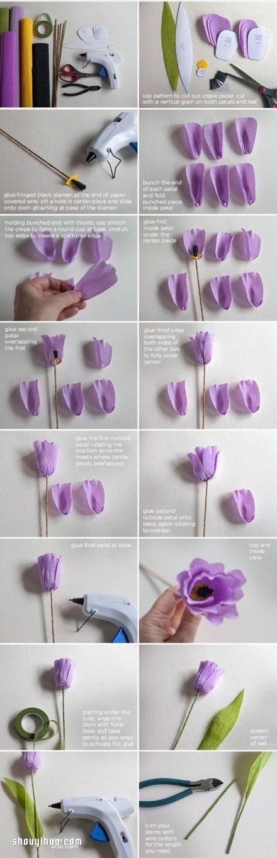 手揉紙花的折法圖解 簡單漂亮手揉紙花教學