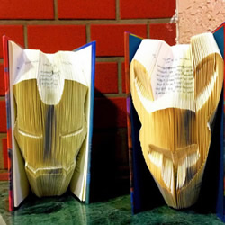 旧书内页折纸,让人一打开便被其中创意惊艳