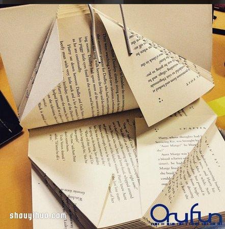 舊書內頁摺紙,讓人一打開便被其中創意驚艷