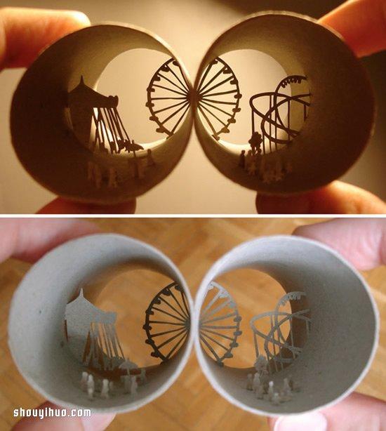 巧奪天工的捲紙筒藝術 法國藝術家的紙雕世界