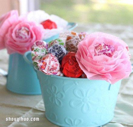 皺紋紙花的折法圖解 皺紋紙花的製作教學