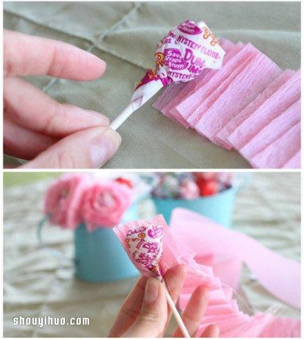 皱纹纸花的折法图解 皱纹纸花的制作教程