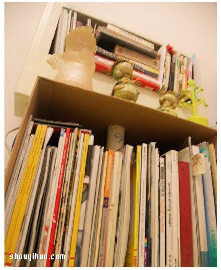 废物利用 书架 纸箱 小制作