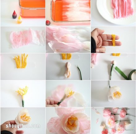無法分辨真假的美麗紙花的折法圖解教學