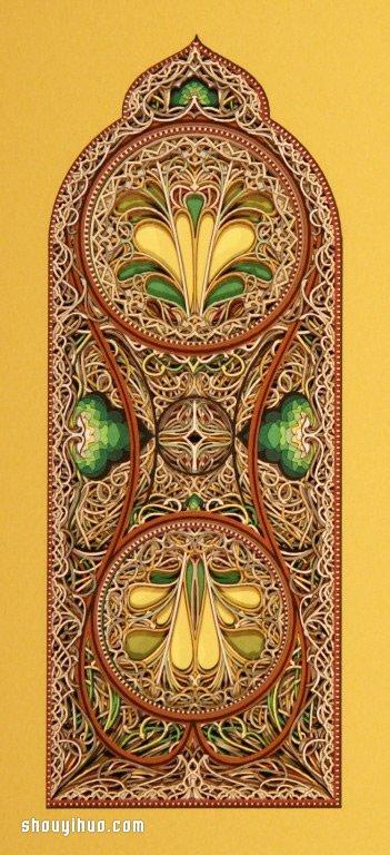 饒富異域風情的的精美紙雕作品欣賞