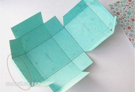 月饼盒手工制作带展开图 月饼包装盒的折法教程