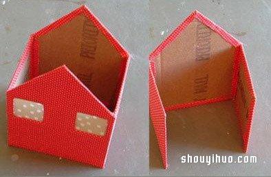 娃娃屋的制作方法 可爱小房子模型手工diy