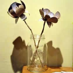 卫生纸卷筒手工制作漂亮装饰花的方法步