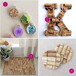 红酒木塞废物利用小制作:地毯/挂架/钥匙扣/杯垫