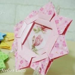 折纸相框制作方法图解 手工折纸相框的折法教程