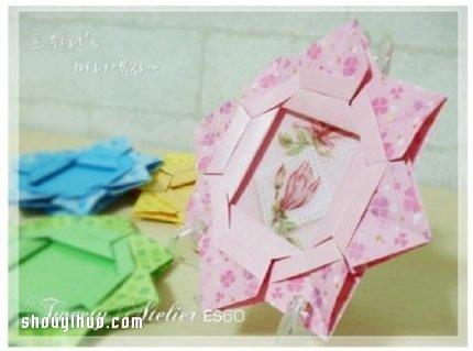 手工相框的制作方法_折纸相框制作方法图解 手工折纸相框的折法教程_手艺活网