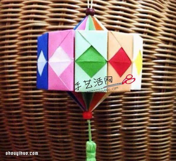 折纸灯笼制作方法图解