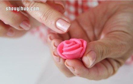 超轻粘土制作玫瑰花的方法步骤图解教程