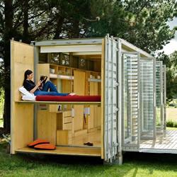 改变你对货柜箱的想法 可容四口之家的货柜屋